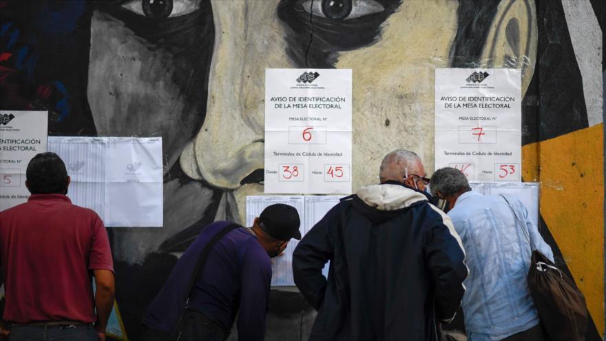 Un colegio electoral en Caracas, la capital de Venezuela, 6 de diciembre de 2020. (Foto: AFP)