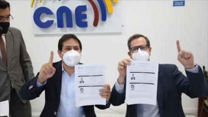CNE califica binomio correísta Unes para comicios del 2021