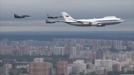 """Roban material secreto del """"avión del día de juicio final"""" de Rusia"""