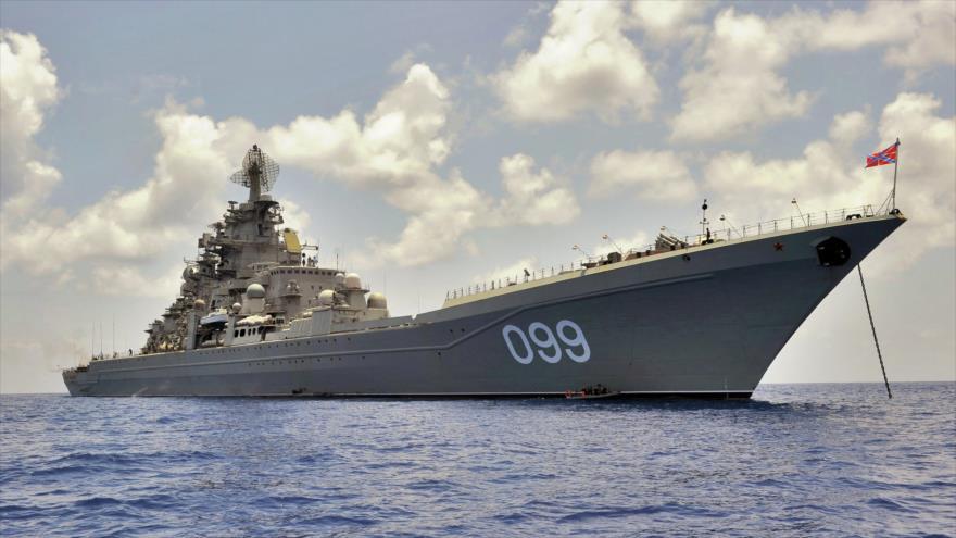 Un buque de guerra ruso, de propulsión nuclear. (Foto: Sputnik)