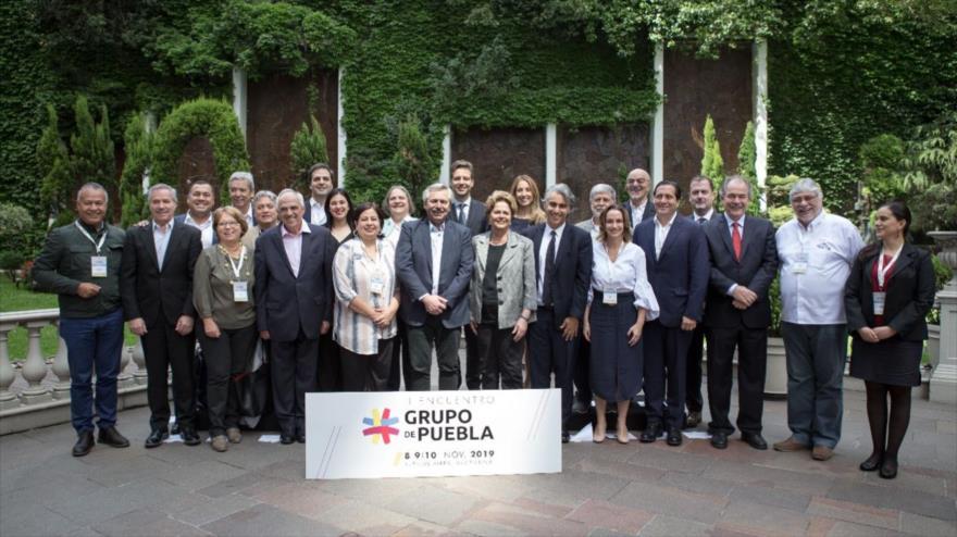 El Grupo de Puebla, un foro político y académico integrado por representantes políticos del mundo fundado el 12 de julio de 2019.