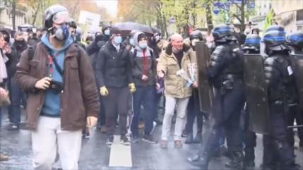 142 manifestantes contra violencia policial son detenidos en París