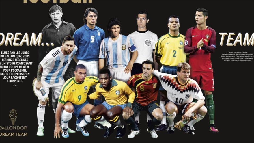 El equipo de ensueño del Balón de Oro de France Footbal.