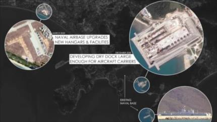 Fotos satelitales: China actualiza sus bases navales en mar del Sur