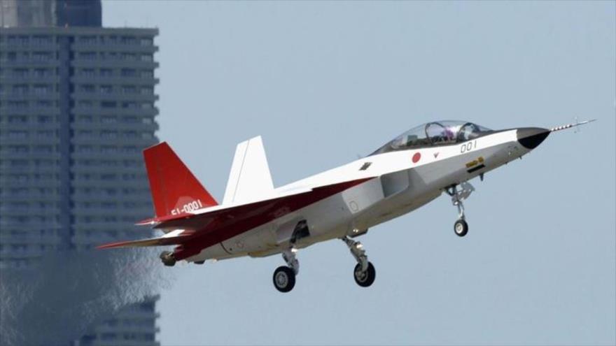 Prototipo de caza furtivo Mitsubishi X-2 Shinshin, desarrollado y probado por Japón.