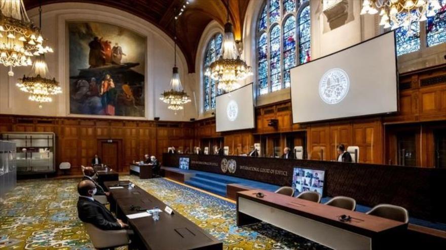 Una sesión de la Corte Internacional de Justicia (CIJ) en la ciudad de La Haya (Países Bajos).