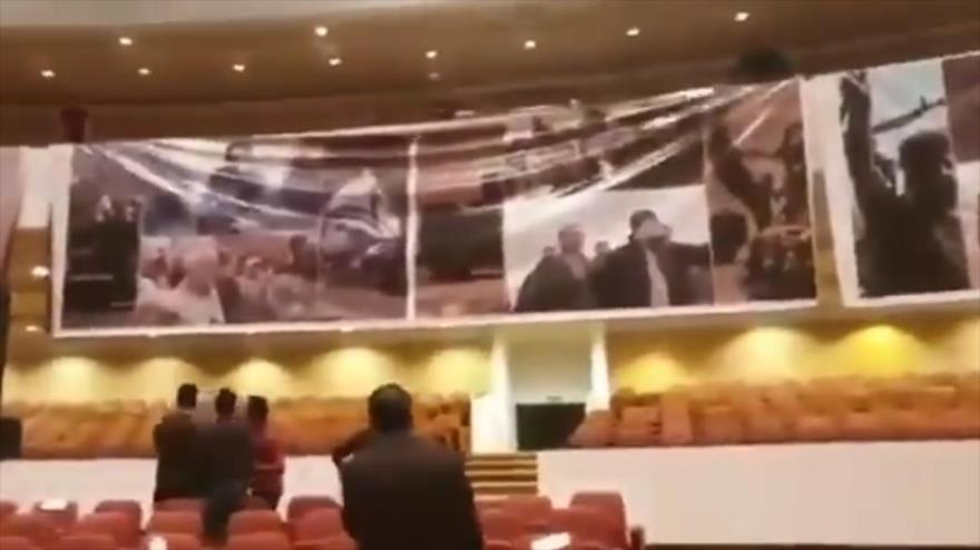 Parlamento iraquí honra a general iraní Soleimani colgando sus fotos   HISPANTV