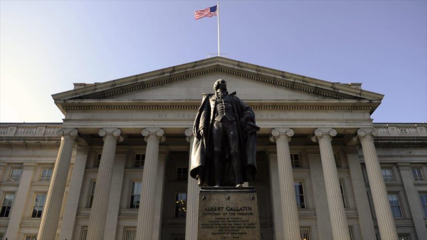 El edificio del Departamento del Tesoro de EE.UU. en Washington, capital.
