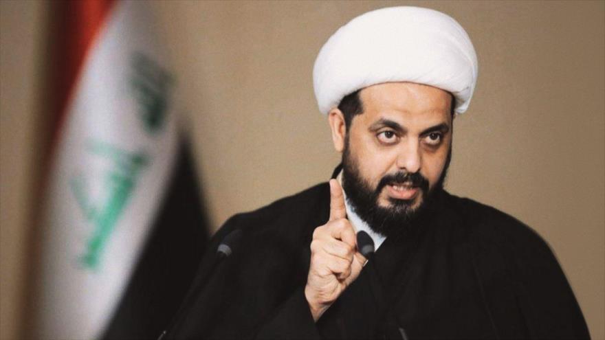 El líder del grupo iraquí Asaib Ahl al-Haq, Qais al-Jazali.
