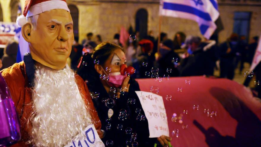 Vídeo: Protestas ante la casa de Netanyahu se tornan violentas   HISPANTV