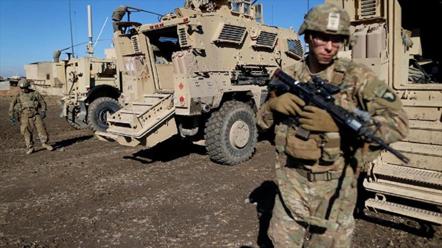 Soldados estadounidenses durante una misión en el este de Mosul, norte de Irak, 27 de diciembre de 2016.