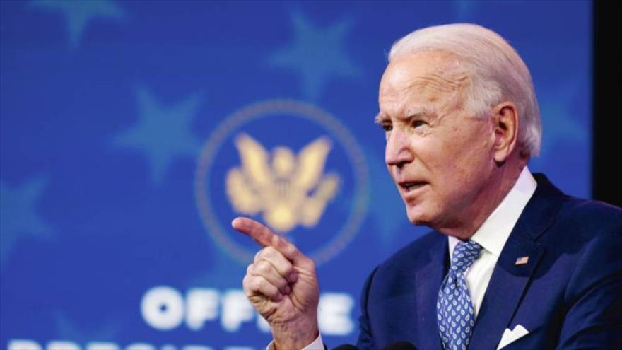 Presidente electo de EE.UU., Joe Biden, habla en el Teatro de Queen, en Wilmington en el estado de Delaware, 22 de diciembre de 2020. (Foto: AP)