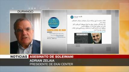 Zelaia: Asesinato de Soleimani fue claramente un acto de guerra
