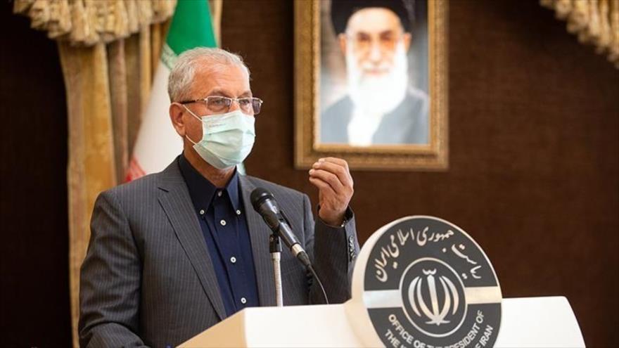 El portavoz del Gobierno iraní, Ali Rabiei, en su rueda de prensa semanal en Teherán, capital, 29 de diciembre de 2020. (Foto: Tasnim)