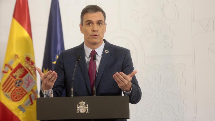 El presidente de Gobierno de España, Pedro Sánchez, ofrece una rueda de prensa desde el Palacio de la Moncloa (Madrid), 29 de diciembre de 2020. (Foto: gob.es)