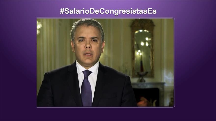 Etiquetaje: Polémica por incremento salarial de los congresistas en Colombia
