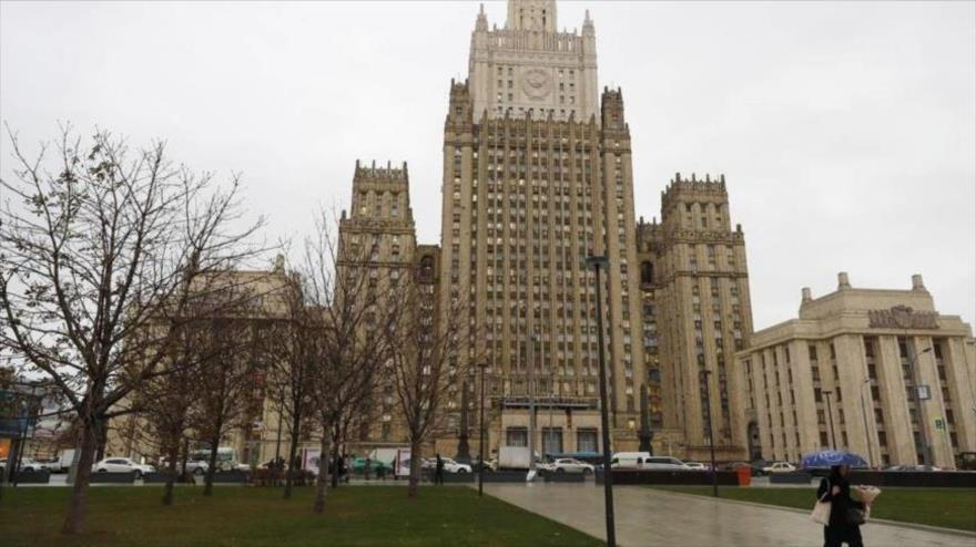 Vista general del edificio del Ministerio de Asuntos Exteriores de Rusia. (Foto: TASS)