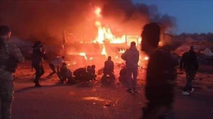 Atentado terrorista contra autobús en Siria deja 25 muertos