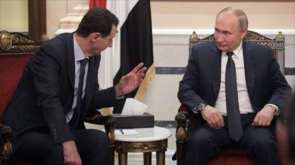 Al-Asad y Putin optan por aumentar cooperaciones antiterroristas