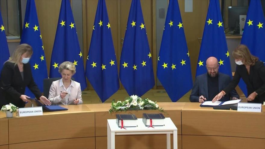Unión Europea y Reino Unido firman acuerdo comercial