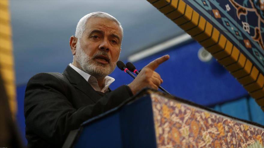 El jefe de la dirección política de HAMAS, Ismail Haniya, ofrece un discurso, 6 de enero de 2020. (Foto: AFP)