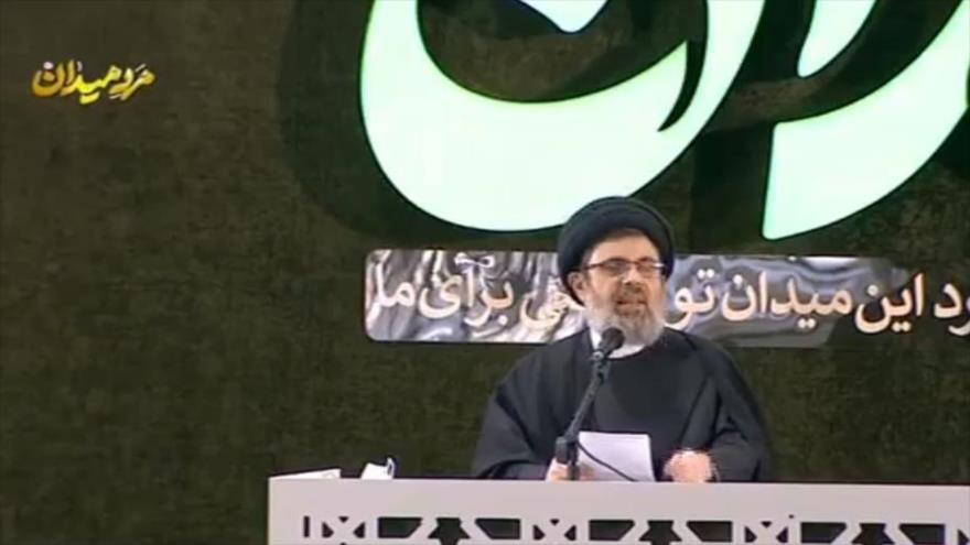 Jefe del Consejo Ejecutivo del Hezbolá, Seyed Hashem Safi al-Din, habla en el 1.º aniversario del asesinato de Qasem Soleimani,Teherán, 1 de enero de 2021.