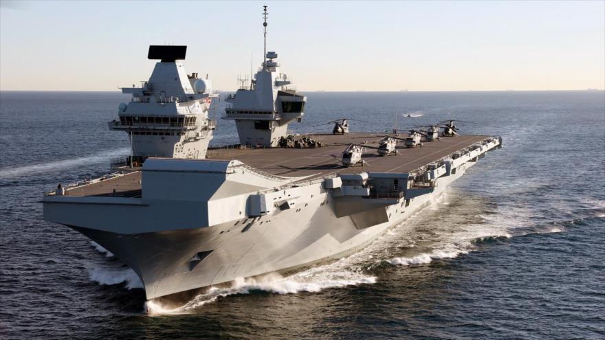 El portaviones más nuevo del Reino Unido, el HMS Queen Elizabeth.