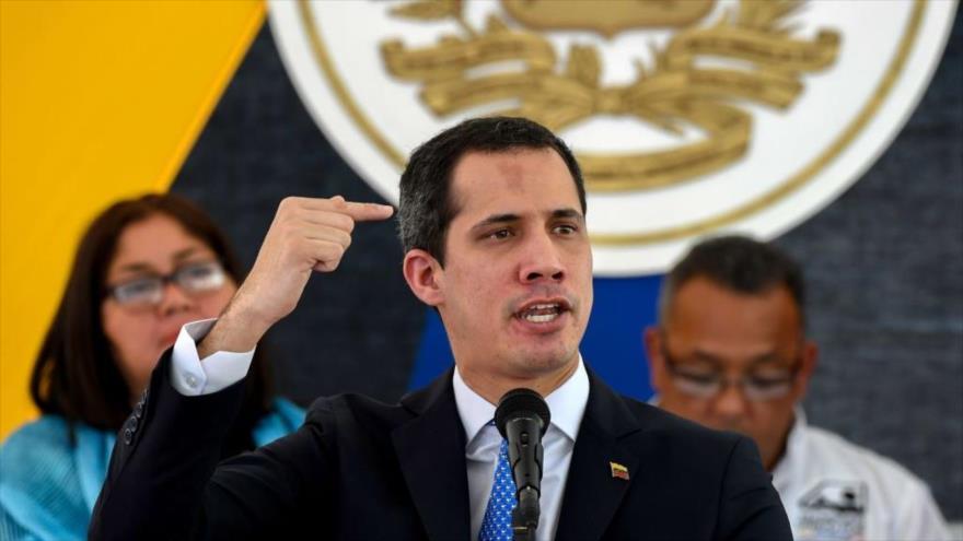 El líder de la oposición venezolana Juan Guaidó, en Caracas, 20 de febrero de 2020.
