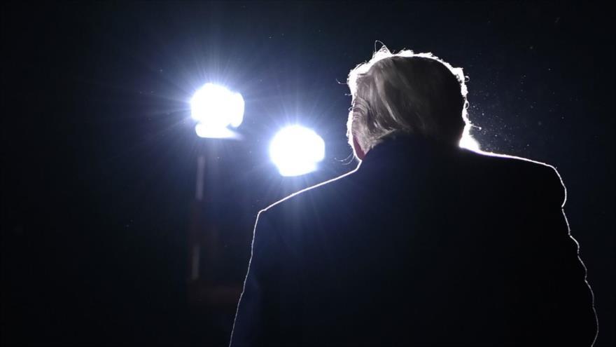El presidente de EE.UU., Donald Trump, ofrece un discurso en Dalton, Georgia, 4 de enero de 2021. (Foto: AFP)
