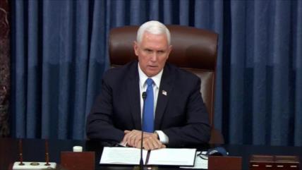 Pence se desmarca de Trump y condena asalto al Capitolio de EEUU