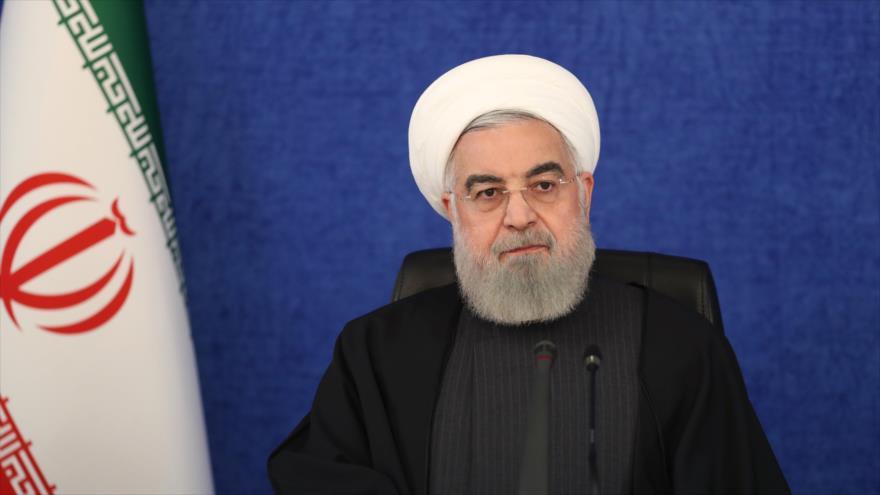 El presidente de Irán, Hasan Rohani, ofrece un discurso en un acto oficial en la capital, Teherán, 7 de enero de 2010. (Foto: President.ir)
