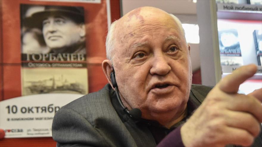 Mijaíl Gorbachov, último dirigente soviético, durante la presentación de un libro en Moscú (capital rusa), 10 de octubre de 2017. (Foto: AFP)