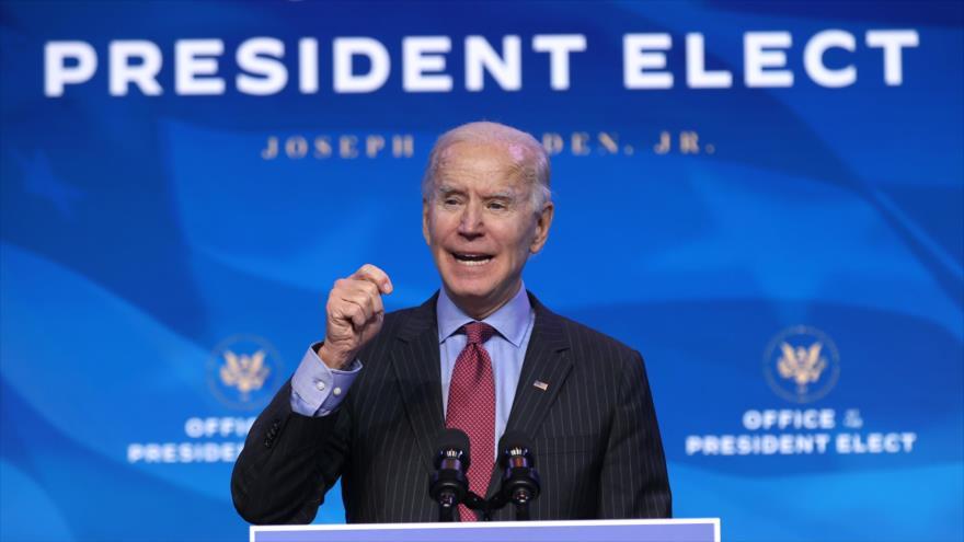 El presidente electo de EEUU, Joe Biden. 8 de enero de 2021.