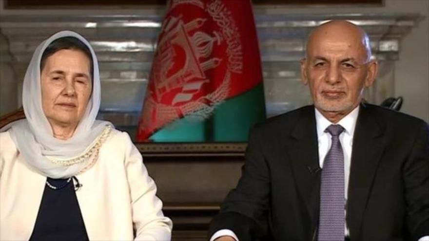 El presidente de Afganistán, Ashraf Qani, durante una entrevista concedida a la cadena CNN, 8 de enero de 2021.