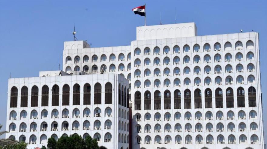 El edificio de la Cancillería de Irak en Bagdad, la capital.