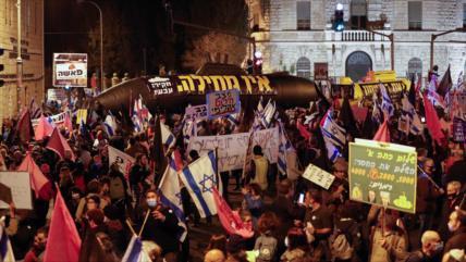 Vídeo: Israelíes siguen protestas para exigir renuncia de Netanyahu