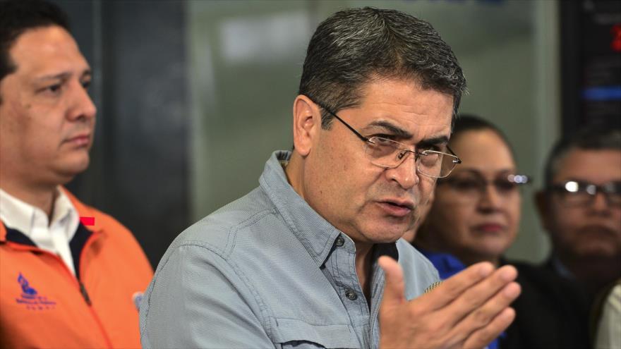 Juan Orlando Hernández, presidente de Honduras, Foto Archivo: (AFP)