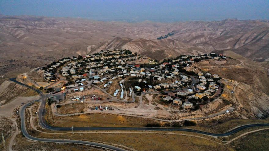 Vista general del asentamiento israelí Alon en la ocupada Cisjordania, 2 de diciembre de 2020. (Foto: AFP)