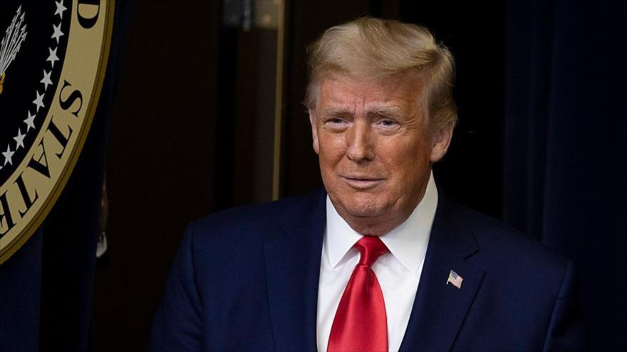 El presidente saliente de Estados Unidos, Donald Trump, durante una reunión en Washington, la capital, 8 de diciembre de 2020. (Foto: AFP)