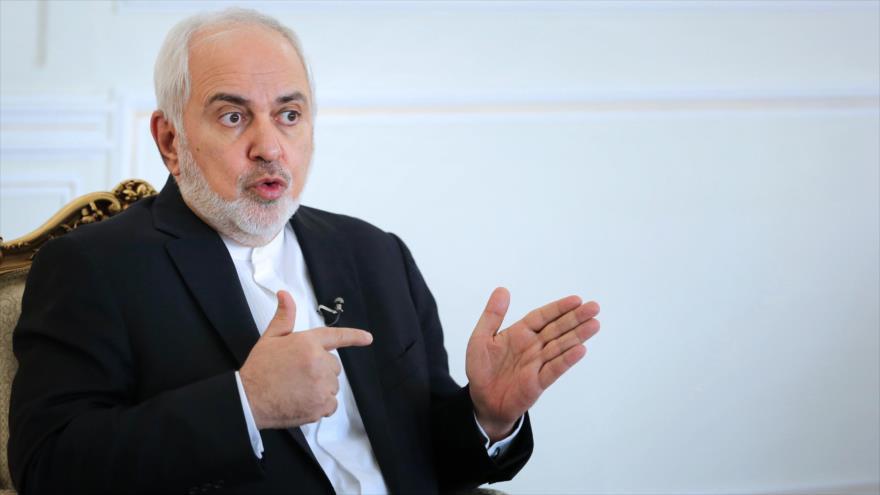El canciller iraní, Mohamad Yavad Zarif, durante una entrevista con el portal khamenei.ir, 12 de enero de 2021.