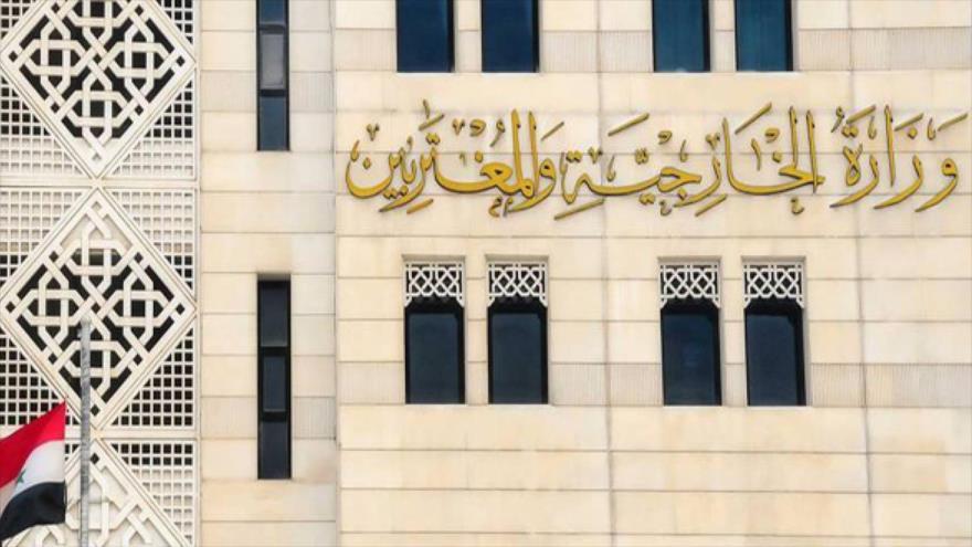 El edificio del Ministerio de Asuntos Exteriores de Siria en Damasco, la capital.