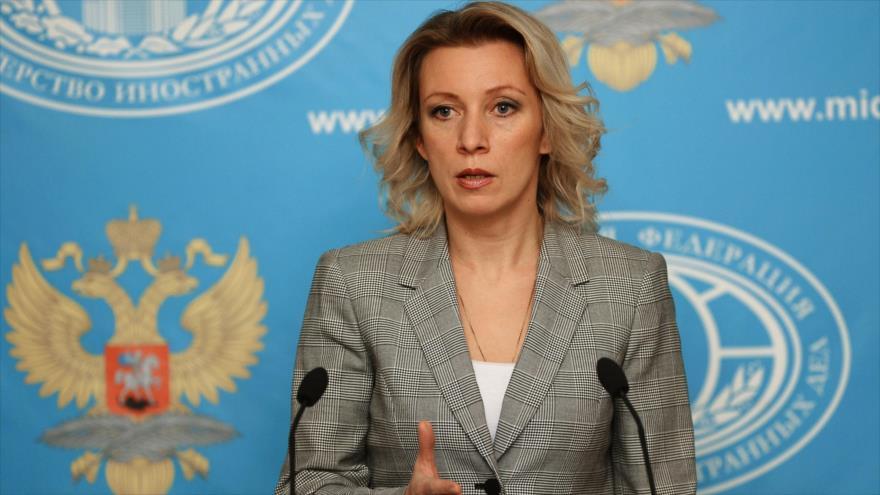 La portavoz del Ministerio ruso de Asuntos Exteriores, María Zajárova.
