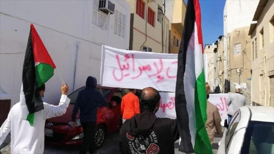 Bareiníes vuelven a protestar contra establecer lazos con Israel   HISPANTV