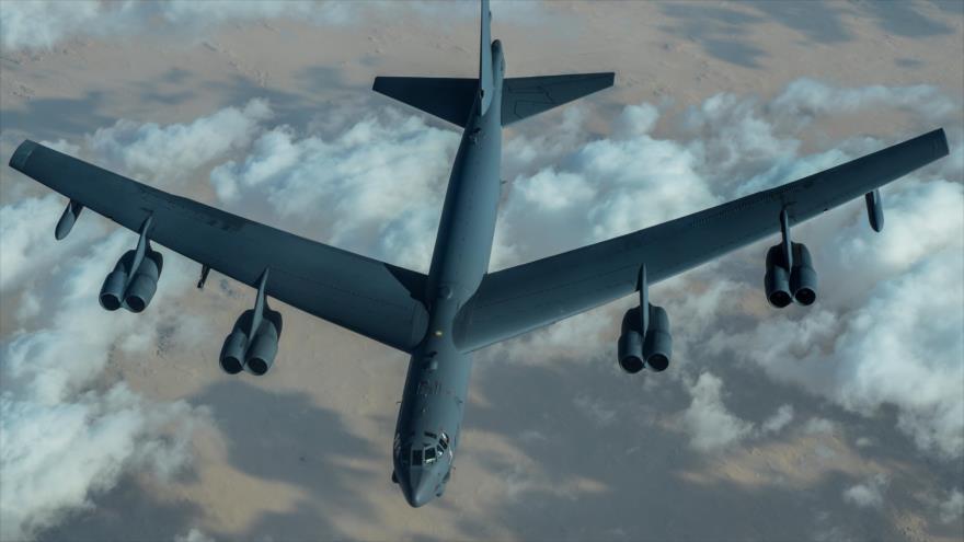 Un bombardero B-52H de Estados Unidos en pleno vuelo. (Foto: Centcom)