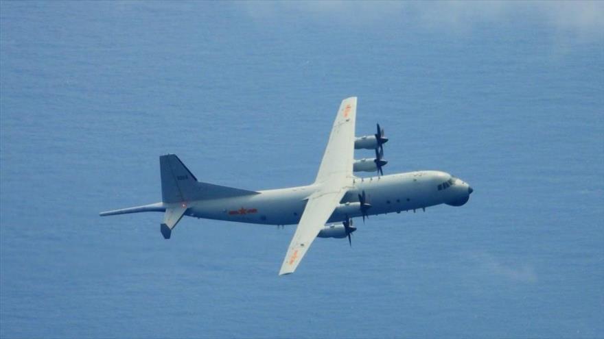 Un avión militar chino entrando en la Zona de Identificación de Defensa Aérea de Taiwán (ADIZ, por sus siglas en inglés).