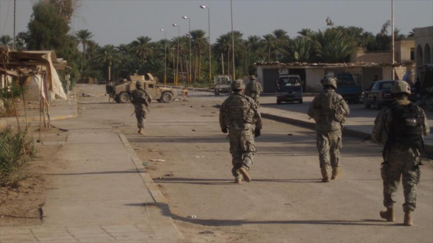 Fuerzas iraquíes desplegadas en la ciudad de Jurf al-Sajar.