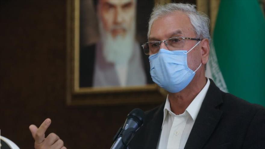 El portavoz del Gobierno iraní, Ali Rabiei, en una rueda de prensa en Teherán (capital), 19 de enero de 2021. (Foto: IRNA)