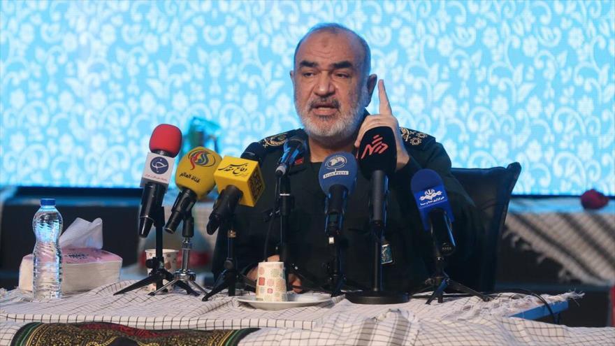 El comandante en jefe del CGRI de Irán, el general de división Hosein Salami, en un acto en Teherán (capital), 19 de enero de 2021. (Foto: IRNA)
