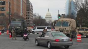 Washington en alerta máxima y tras las rejas, Donald Trump