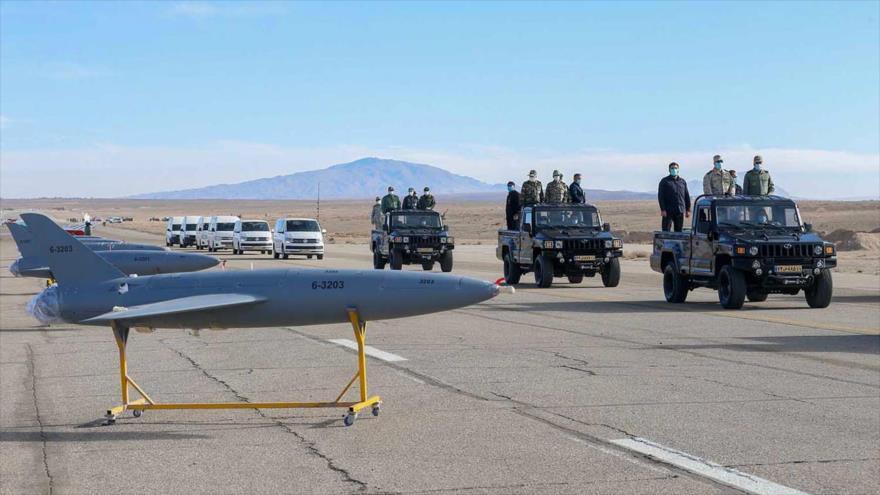 Drones de Irán vigilaron 'barcos del enemigo' durante ejercicios